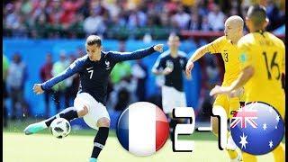 Francia vs Australia 2-1 All Goals & Highlights 16/06/2018