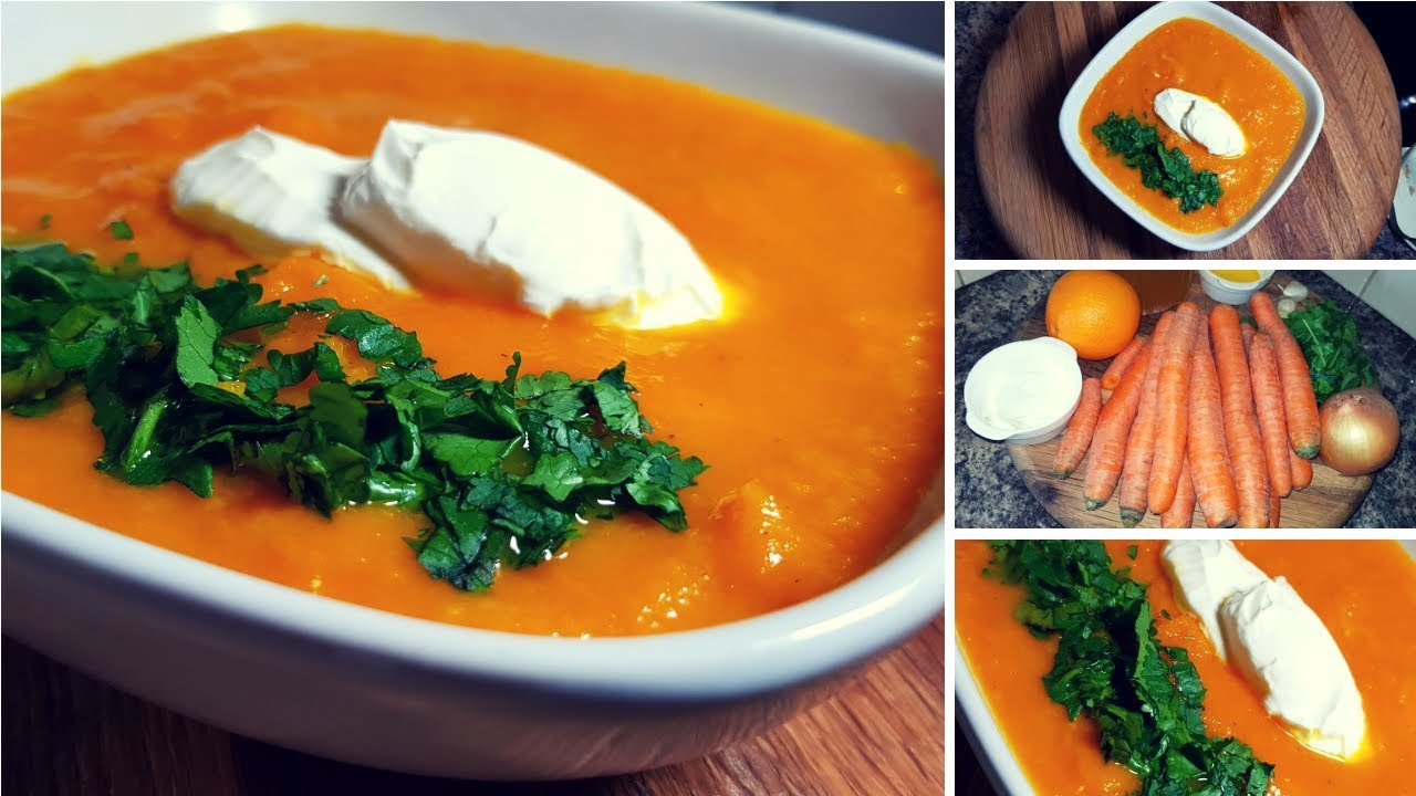 Zupa Krem Z Marchewki Z Dodatkiem Imbiru