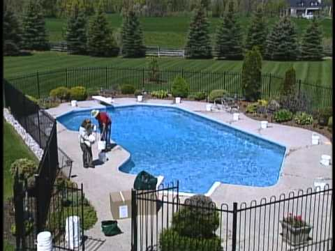 How to install a safety pool cover pools diy videos youtube solutioingenieria Image collections