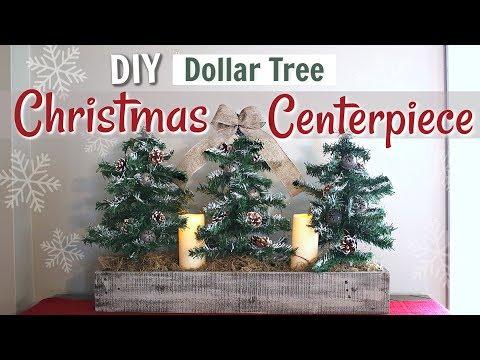 DIY Dollar Tree Farmhouse Christmas Decor | Farmhouse Christmas Tree Display | KraftsbyKatelyn