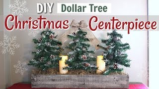 DIY Dollar Tree Farmhouse Christmas Decor | Farmhouse Christmas Tree Display | KraftsbyKatelyn