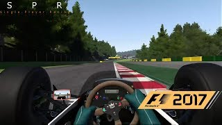 F1 2017 Game: All Classic Cars Driven! Spa Hotlaps