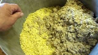 зерновая брага из зелёного солода кукурузы и пшеницы, проращивание , помол, перегон