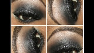 MAKE UP TUTORIAL | Smokey Disco Glitter Eyes Feat  Glama Girl Cosmetics