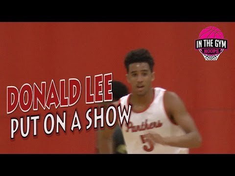 Donald Lee PUTS ON A SHOW AND MAKES A NAME FOR HIMSELF at INTHEGYMHOOPS ELITE SHOWCASE