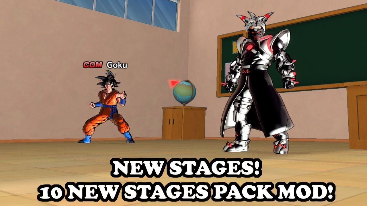 NEW 10 STAGES PACK (10 Lobby Maps Now Playable!) MUST SEE! Dragon Ball  Xenoverse 2 Mods