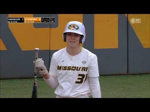 #16 Missouri vs #15 Tennessee Game 2   Women Softball May 8,2021