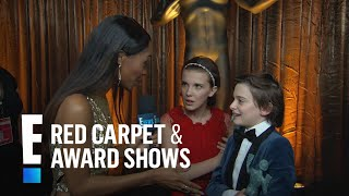 """""""Stranger Things"""" Young Stars Couldn't Hold Back Tears   E! Live from the Red Carpet"""