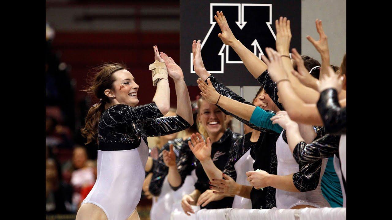 Gophers Women's Gymnastics Upsets No. 1 Michigan - YouTube