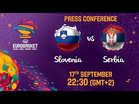 Slovenia v Serbia - Press Conference - FIBA EuroBasket 2017