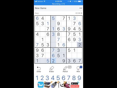 Sudoku Speed Run with IOS 11