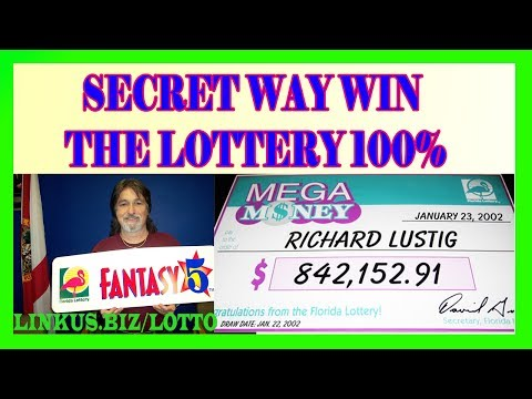 How To Win The Lottery - The Secret Way Win 100% Guaranteed