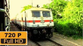 [IRI]Very Clean LGD WAP7 with Delhi - Chennai  Rajdhani Express accelerating towards AGRA