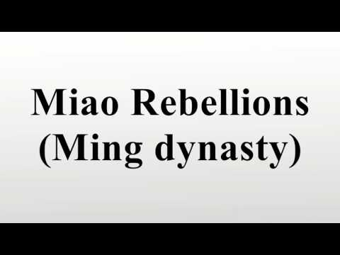 Miao Rebellions (Ming dynasty)