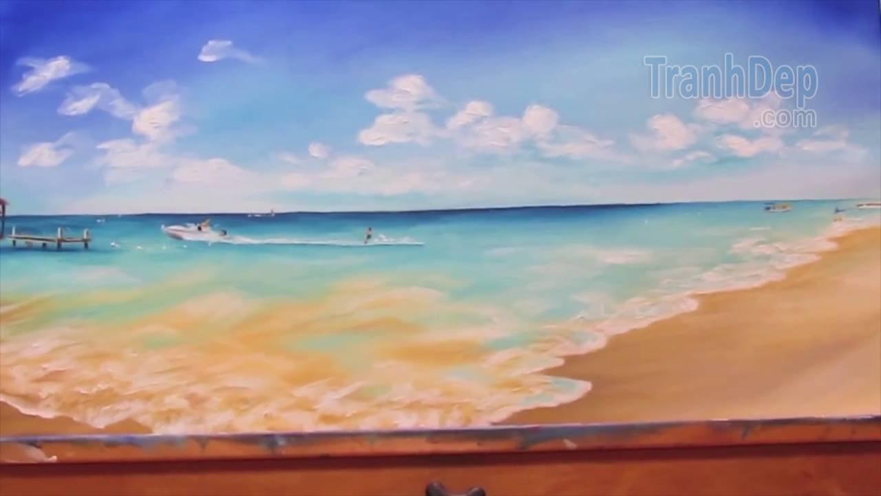Hướng dẫn vẽ tranh phong cảnh biển tuyệt đẹp