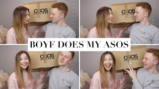 My Boyfriend does my ASOS shop! Clothing Try on Haul!