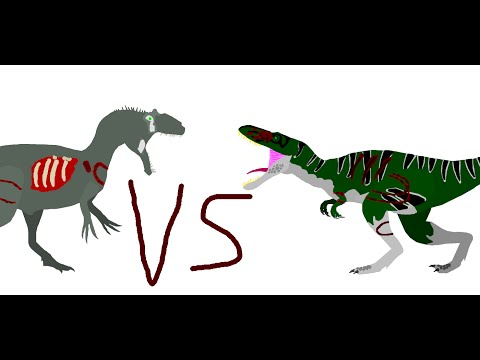 Battle Carnage: allosaurus dwarf (polar allo) vs nanotyrannus