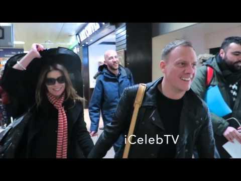 Coronation Street cast arrive at London Euston Train Station
