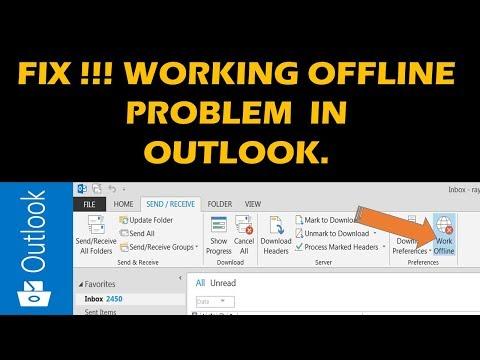 Fix!!!! Working Offline Problem In Outlook 2019