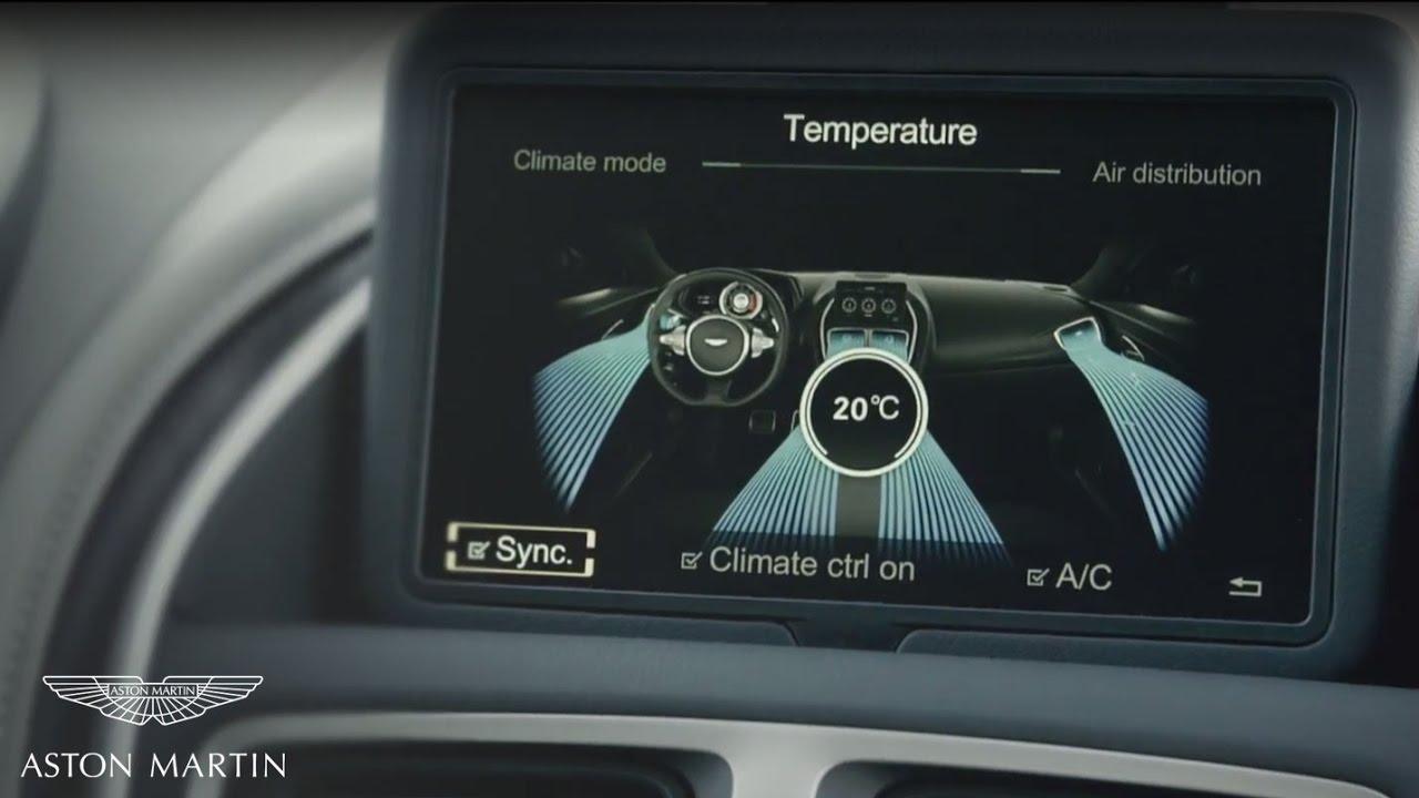 Infotainment System And Interior Controls Aston Martin Db11 Youtube