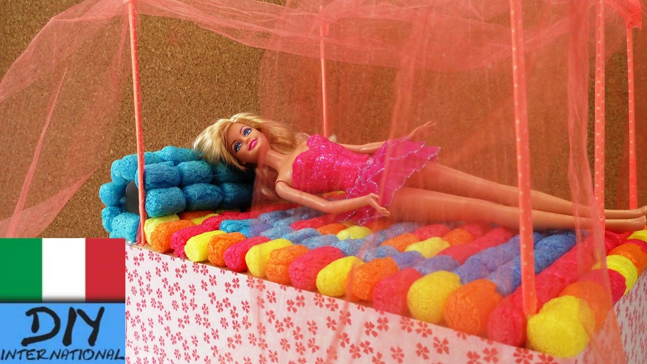 Come costruire il letto di Barbie - DIY Letto dei sogni fai da te - YouTube