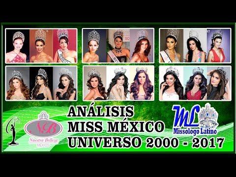 ANALISIS MISS MEXICO UNIVERSO 2000 - 2017