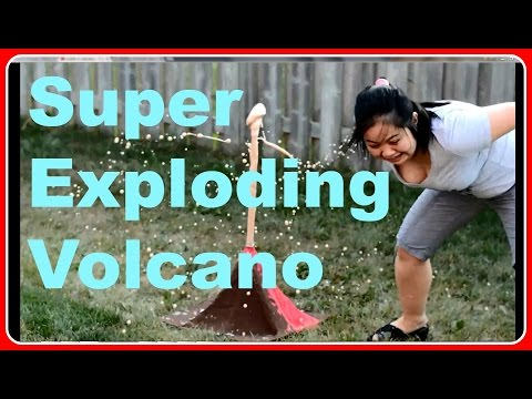 How To Make A Super Exploding Volcano - Crafts For Kids