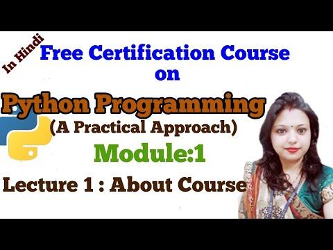 L1: Python Programming A Practical Approach  Tutorial   beginners Syllabus Certification Arti Sharma thumbnail