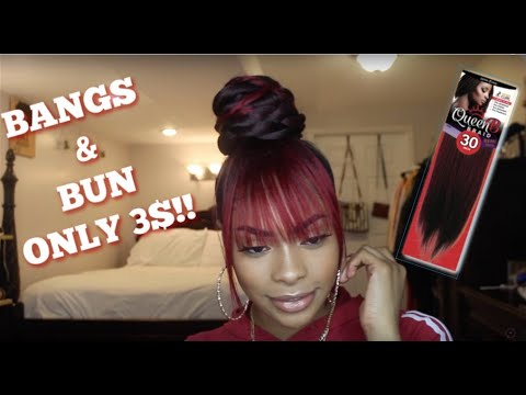 KANEKALON BUN WITH BANGS | ONLY $3