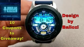 Samsung Galaxy Watch/Gear Watch Face by Ballozi - 10 Coupons to Giveaway! - Jibber Jab Reviews!
