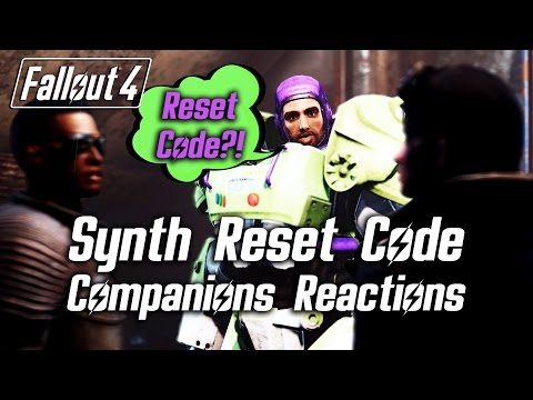 Fallout 4 - Synth Reset Code - All Companions Reactions to All Answers
