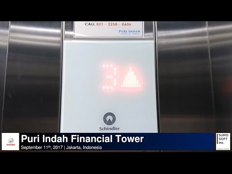 Schindler 5500 Parking Lifts/Elevators at Puri Indah Financial Tower, Jakarta