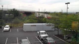 Newark EWR Airport hotel Marriott Courtyard in Elizabeth New Jersey view out my window 9 21 11 Mp3