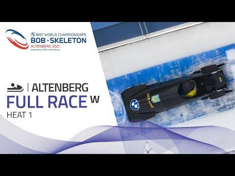 Altenberg | BMW IBSF World Championships 2021 - Women's Monobob Heat 1 | IBSF Official