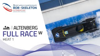 Altenberg | BMW IBSF World Championships 2021 - Women's Monobob Heat 1 | IBSF Official