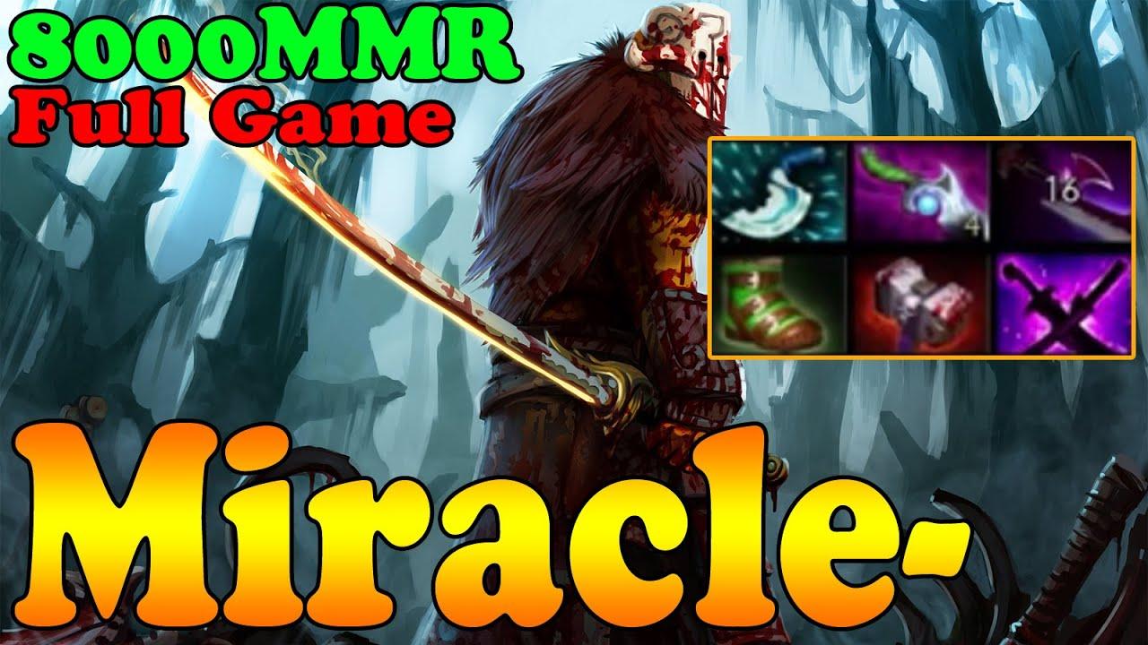 dota 2 miracle 8000 mmr plays juggernaut full game ranked