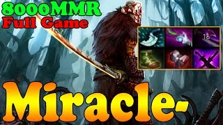 Dota 2 - Miracle- 8000 MMR Plays Juggernaut - Full Game - Ranked Match Gameplay!
