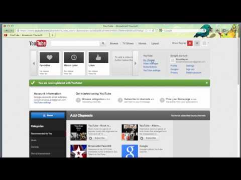 How to open a Business Account on YouTube