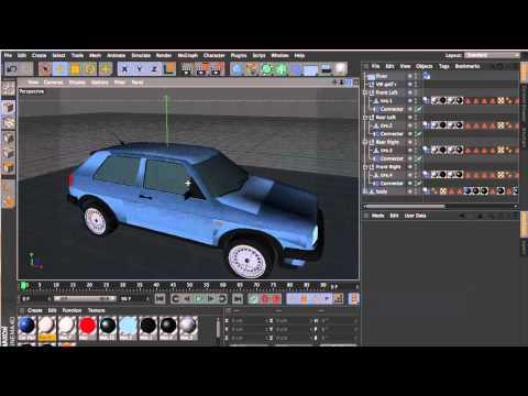 Cinema 4D | Car Rigging Tutorial + FREE 3D car