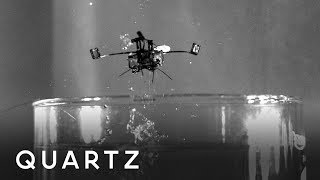 A raindrop-sized robot that leaps out of the water