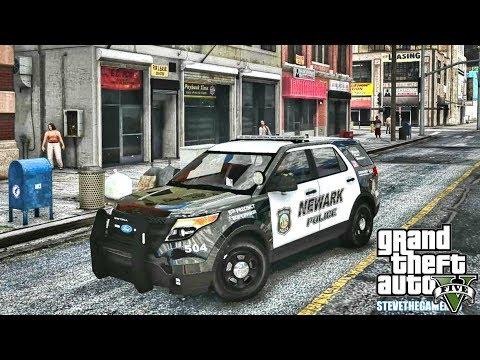 GTA 5 MODS LSPDFR 0.4.1 - NEWARK FPI POLICE PATROL!!! (GTA 5 REAL LIFE PC MOD)