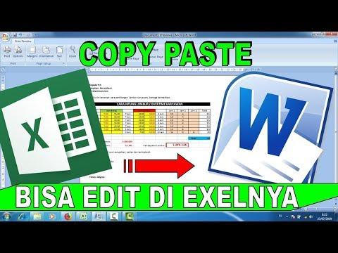 Cara Convert Excel Ke Word - Bisabo Channel