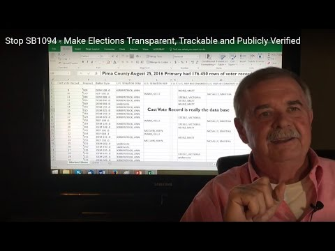 Stop SB1094 - Make Elections Transparent, Trackable and Publicly Verified