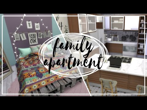 Rodzinny Apartament - The Sims 4 Speed Build: Apartamenty