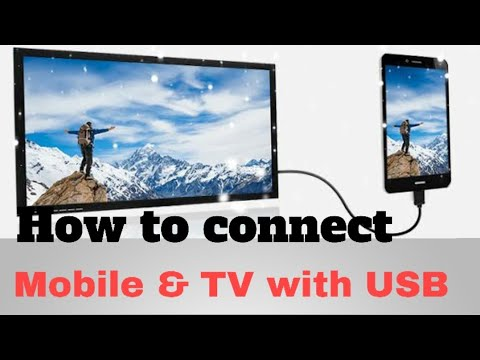 Download How To Connect 4G Smartphone To TV using USB Data Cable (charging wire)
