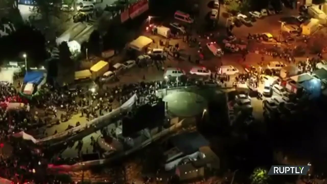 Drone Footage Shows People trying to Evacuate Mount Meron during deadly Stampede