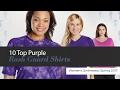 10 Top Purple Rash Guard Shirts Women's Swimwear, Spring 2017