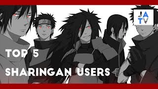 Top 5 Strongest  Sharingan Users in Naruto Shippuden #JUSTANIMETV