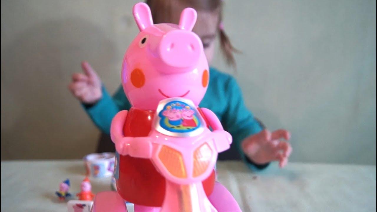Свинка пеппа игрушки видео киндеры