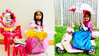 Ashu is going to the princess ball and funny stories with Toys for girls